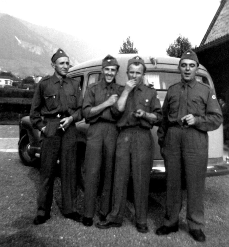 1950 - I militi Cerutti, Poggiali, Cantoreggi e Giandina