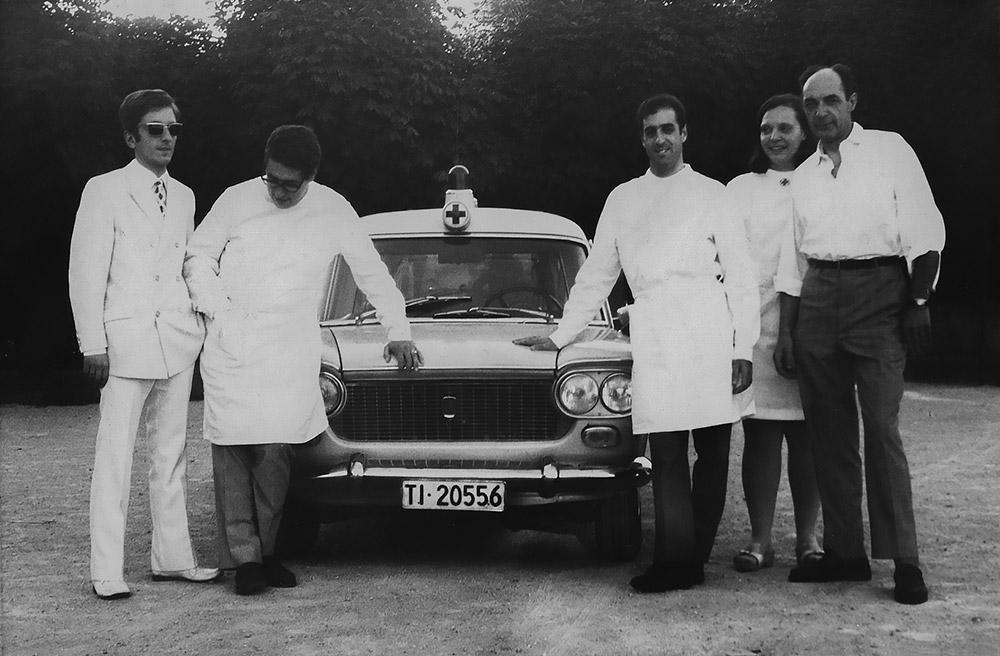 1970 - I militi Mario Tamburini, Ivano Guggiari, Pierluigi Galeazzi, Teresa ed Edgardo Taiana