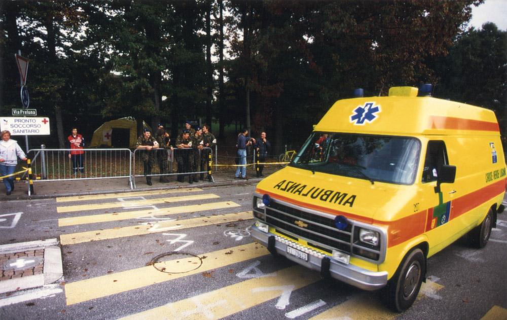 1996 - Mondiali di ciclismo a Lugano - Picchetto sanitario di Croce Verde Lugano