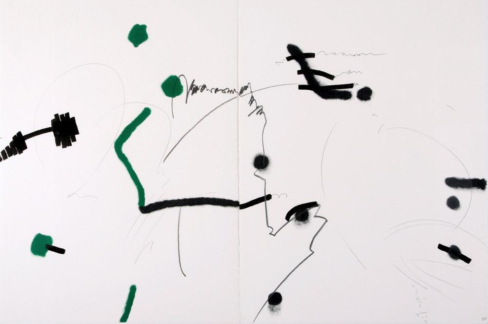 Veronica Branca Masa - Senza titolo, 2005. Tecnica mista su carta, 75 x 113 cm. CHF 1'700.--