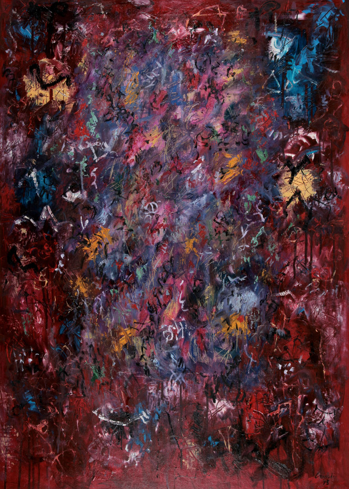 Dario Cairoli - Della serie I Cardinali, 1993. Olio, 110 x 80 cm. CHF 2'100.--