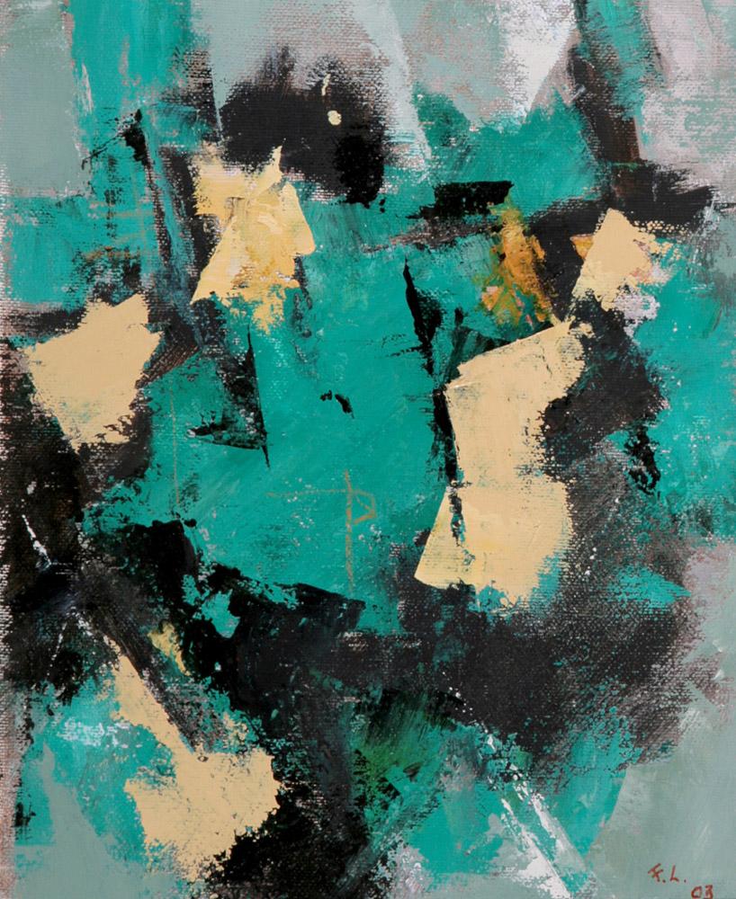 Fausto Leoni - Passeggiata, 2003. Olio su tela, 21 x 26 cm. CHF 800.--