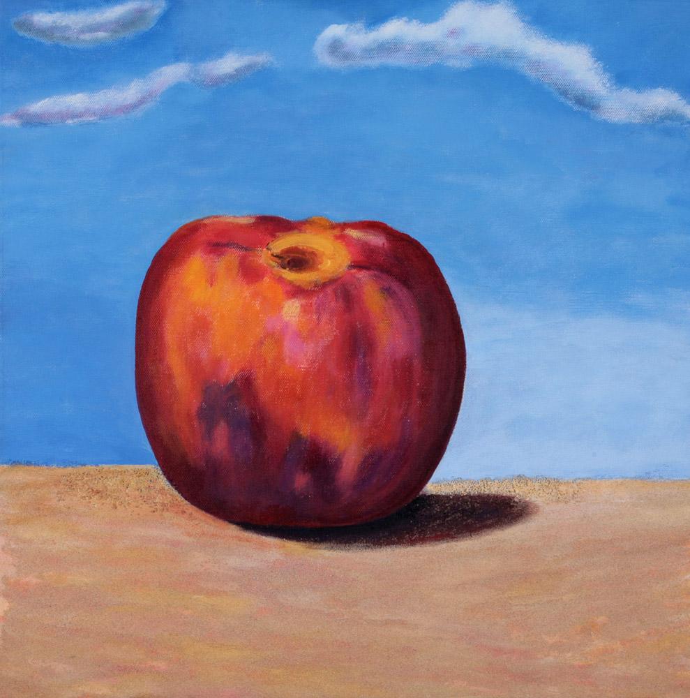Nancy Mangiavacchi - Pesca, 2001. Acrilico con sabbia, 50 x 50 cm. CHF 400.--