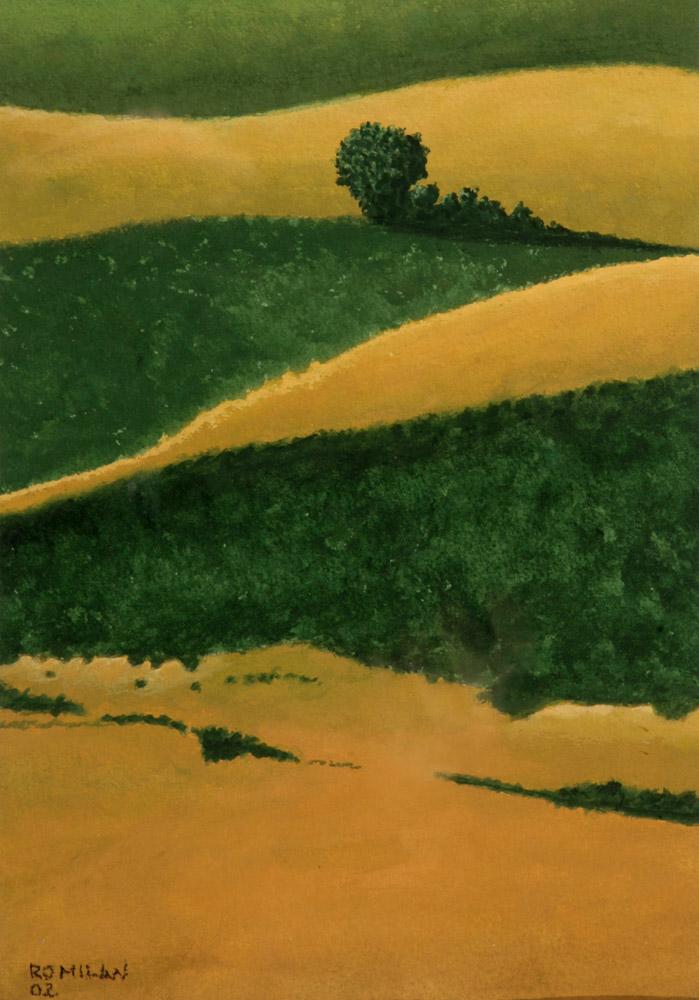 Ro Milan, Paesaggio 2002. Tempera, 30 x 21 cm. CHF 950.--