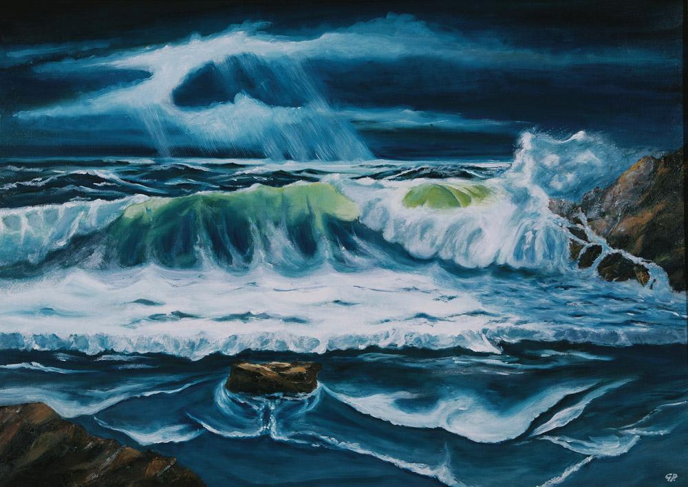 Gianni Piccardo - Risacca, 2005. Olio su tela, 50 x 70 cm. CHF 300.--