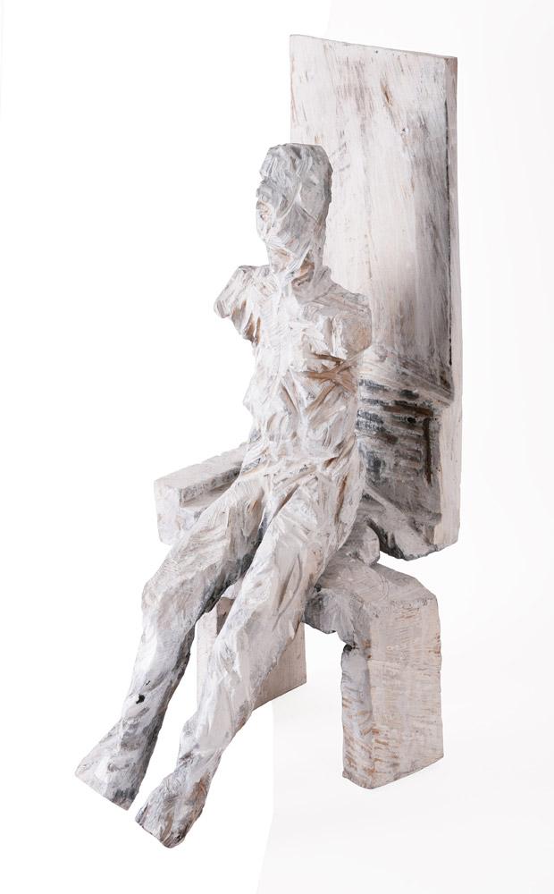 Klaus Prior - Senza titolo, 2001. Scultura in legno di pioppo, 71 x 38 x 42 cm. CHF 2'900.--