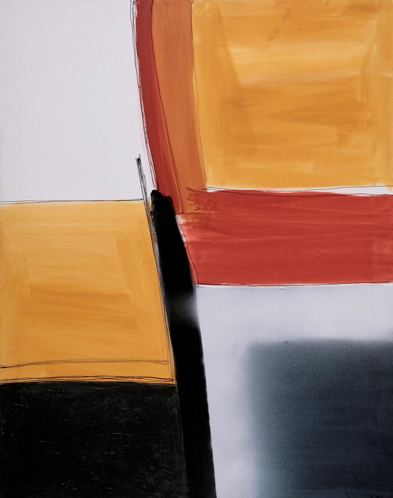 Jacqueline Real - Holding Firm, 2003. Acrilico su tela, 97 x 74 cm. CHF 2'200.--