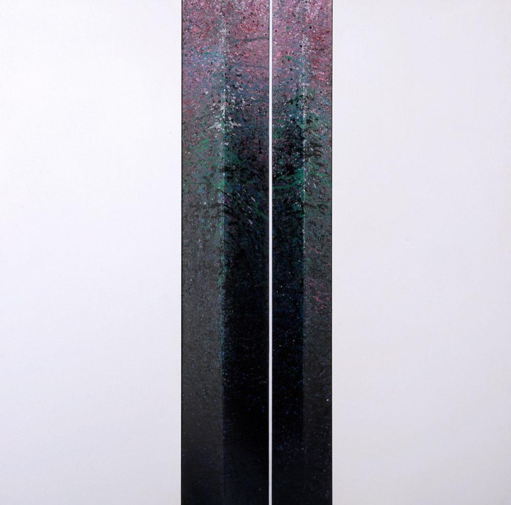 Giuliano Togni - Coppia, 2005. Acrilico su tela estroflessa, 100 x 100 cm. CHF 1'800.--