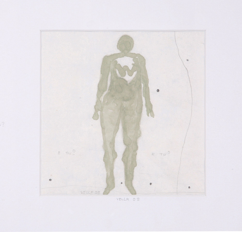 Francesco Vella - Pensiero Naif, 2009. Acrilico e matita, 30 x 30 cm. CHF 800.--