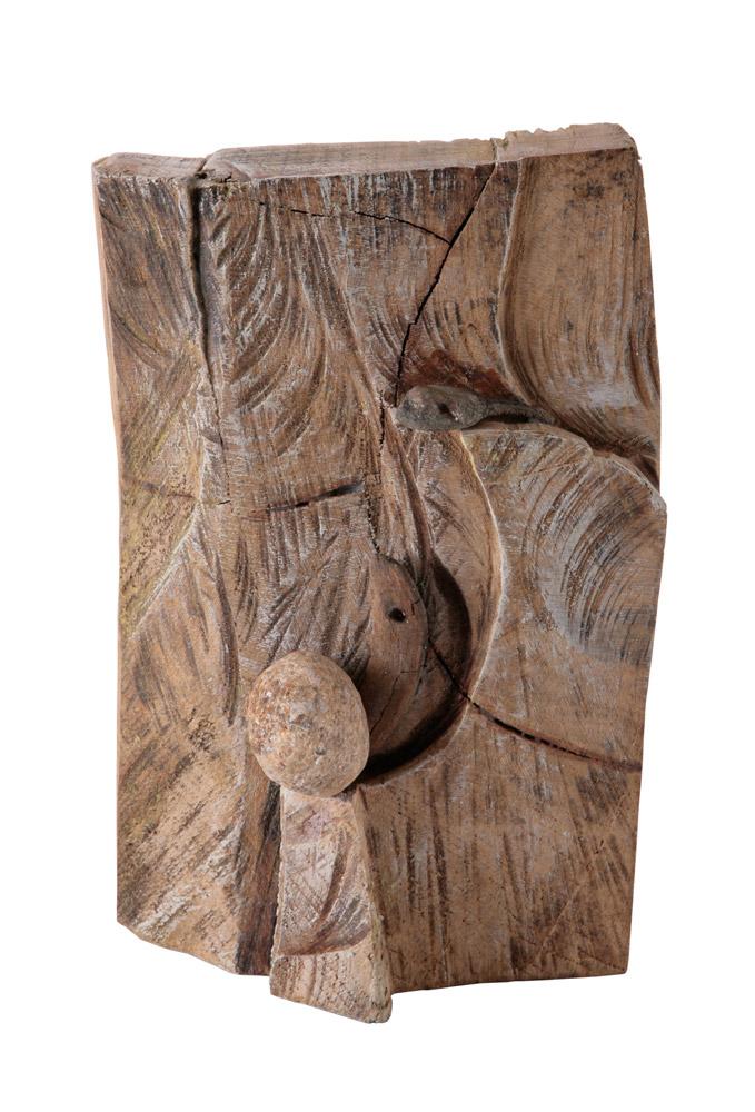 Flavia Zanetti - Senza titolo, 2003. Tecnica mista su legno, 24 x 16 x 9 cm. CHF 600.--