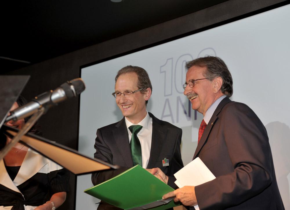 3 marzo 2010 - Il Presidente Mauri e il sindaco di Lugano Giorgio Giudici