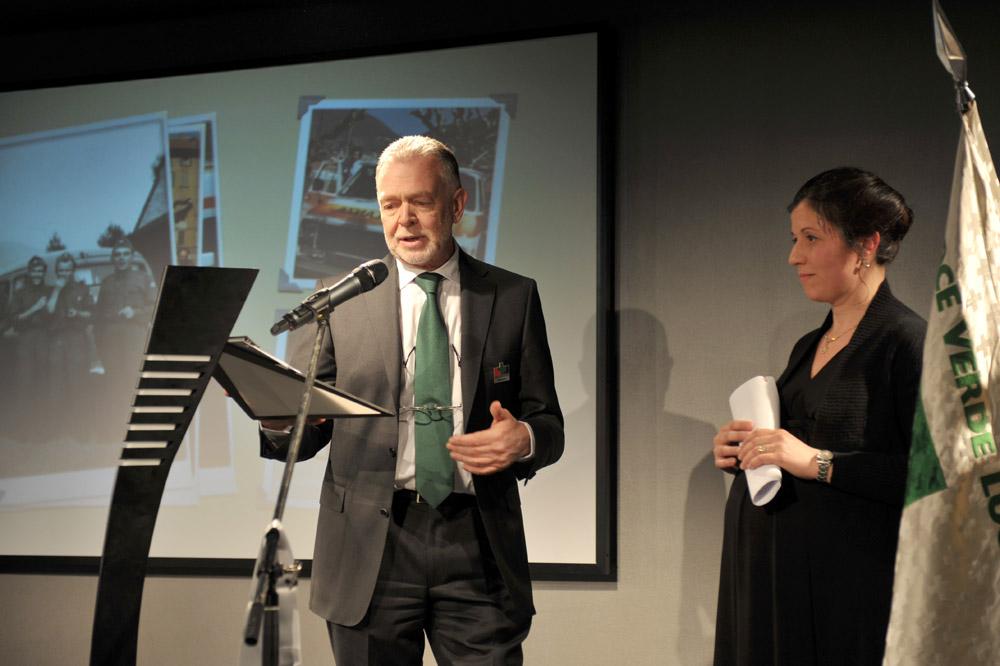 3 marzo 2010 - Il compleanno di Croce Verde Lugano. Carlo Casso con Barbara dell'Acqua